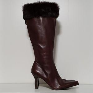 Anne Klein Tall Stiletto Heeled Cuffed Boots